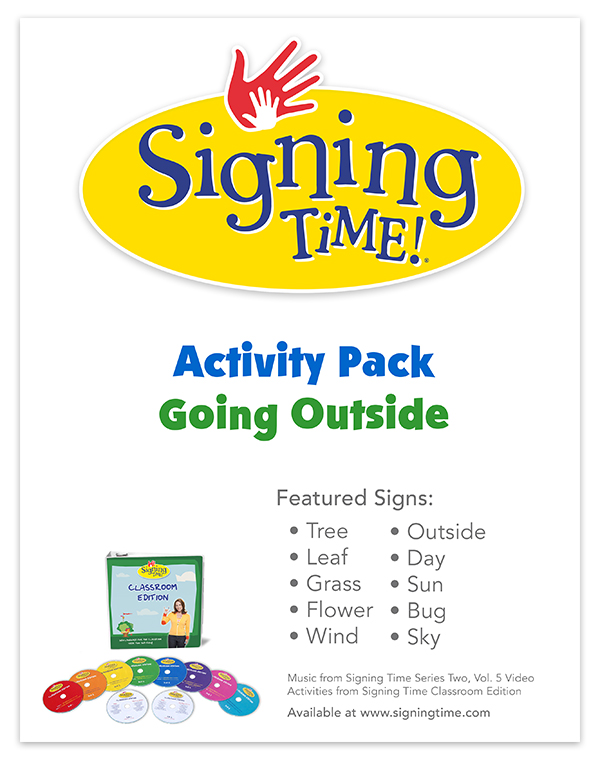 Signing Time Activity Pack: Outside